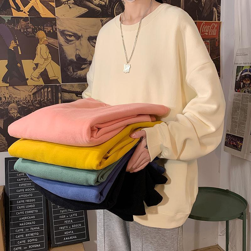 H504acaca2074452c87f4659274feb868M loose Korean style plus size sweatshirt winter clothes streetwear women 2020 new fashion plus velvet oversize harajuku hoodie