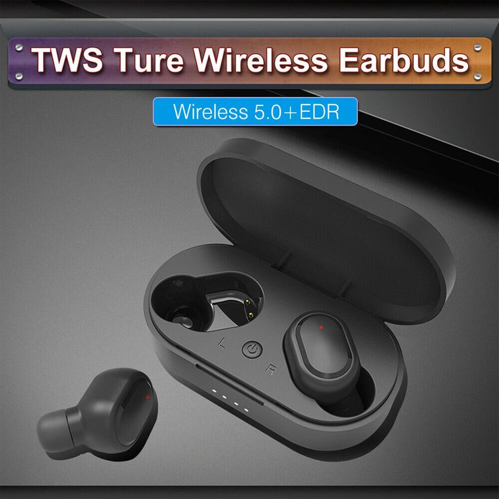 Wireless 5.0 Headset Stereo Wireless Earphones In-Ear Earbuds Stereo Headphones With Charging Base 350mAh