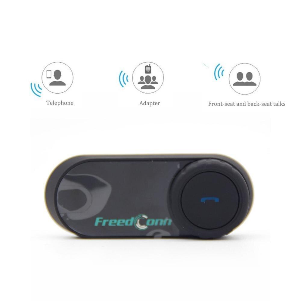 Interphone sans fil d'écouteur d'interphone de casque de moto de T-COMOS pour 3 ressorts de casque de Radio de FM de cavalier