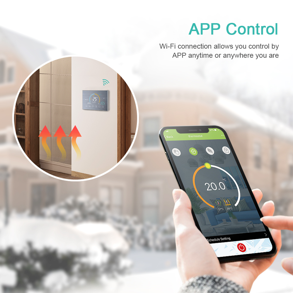 Termostato termostato wifi controlador de temperatura programável
