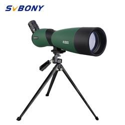 SVBONY SV403 Zoom Teleskop 20-60X60/25-75x70mm Spektiv Multi-Beschichtete Optik Monokulare 64-43ft/1000yards w/ tabelle Stativ für die Jagd, Schießen, Bogenschießen, Vogelbeobachtung