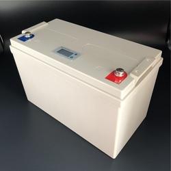 LiFePO4 литий-железо 12,8 В 100Ah аккумулятор ЖК-дисплей Напряжение емкость бесплатное обслуживание глубокий цикл для RV Кемпинг Солнечной системы