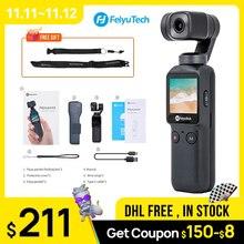 Feiyu kieszonkowy aparat Gimbal 3 osi 4K HD kardana ręczna stabilizator kamery 120 ° szeroki kąt inteligentny utwór wbudowany bezprzewodowy dostęp do internetu sterowania