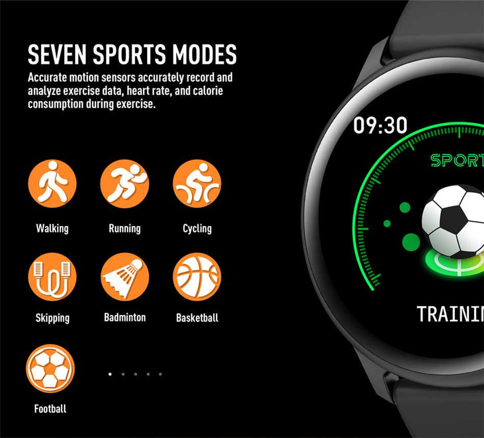 2019 yeni renkli ekran kadın spor akıllı İzle erkekler kadınlar Fitness tracker iPhone için kalp hızı kan basıncı fonksiyonu smartwatch