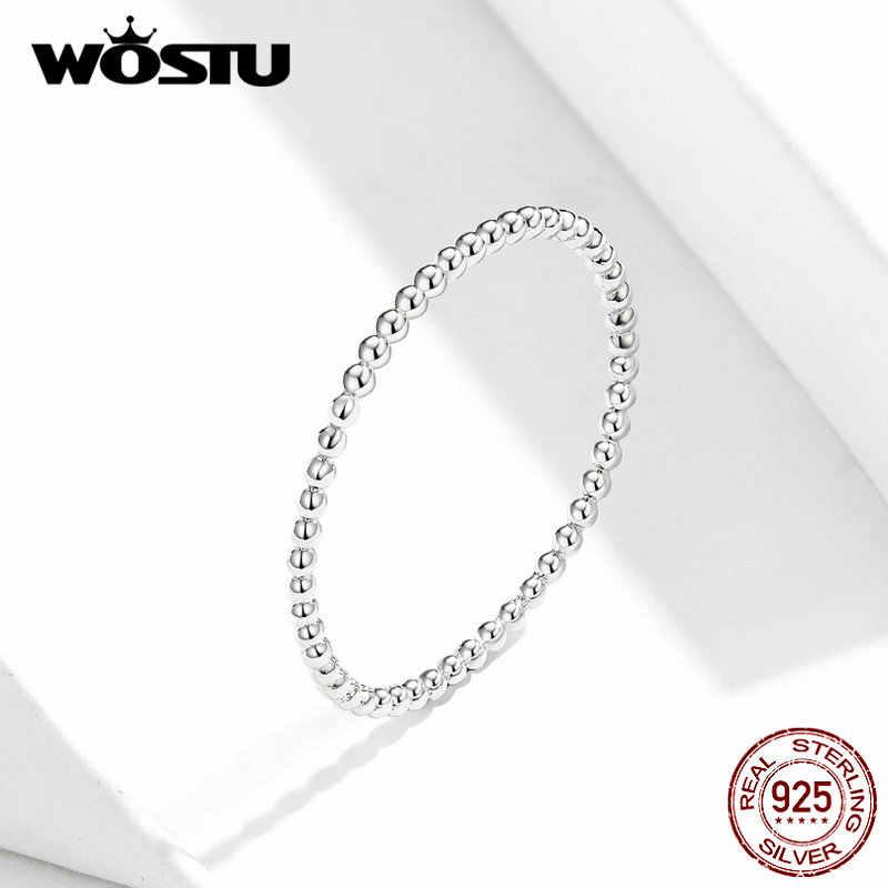 WOSTU แท้ 100% แท้ 925 แหวนเงินสเตอร์ลิง 2019 ใหม่ Desgin Simple & Stylish Shape แหวนแฟชั่น S925 เครื่องประดับ DXR574