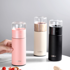 Image 2 - 360ML Glass Bottle Tea Infuser Stainless Steel Glass Tea Infuser Bottle Portable Leak Proof Thermos Bottle Tea with Filter
