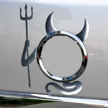 3D Chrome Devil Decal Car accessories funny car sticker! For BMW X-series 3-series 5-series 7-series E F-series image