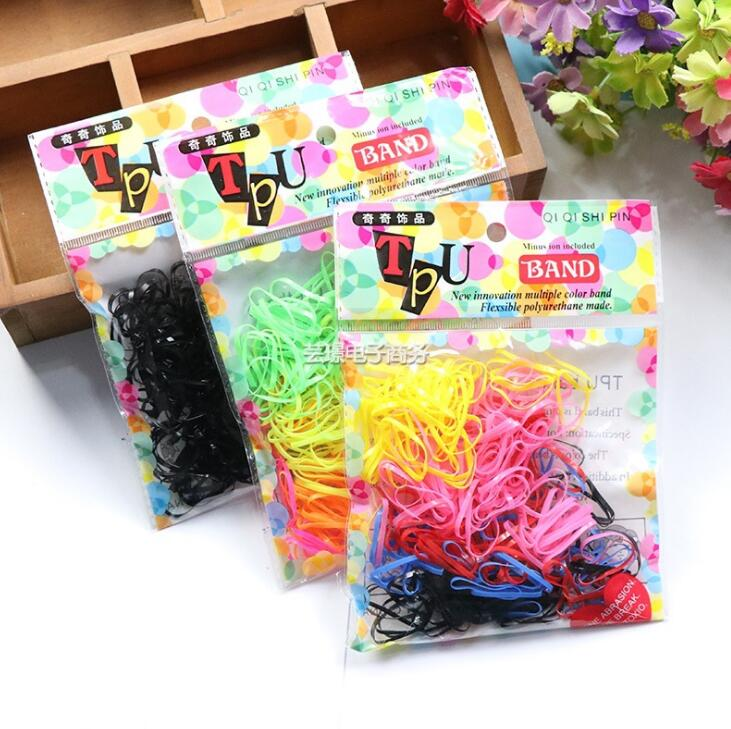 1 bag=about 100pc Hot Sale Colorful Pet Beauty Supplies Dog Grooming Rubber Band Hair Product Accessory