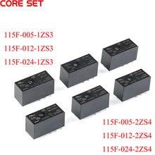 1Pc Relais JQX-115F-005-2ZS4 5V 16A 8PIN HF115F-012-1ZS3 12V 8A 8Pin 1 Set oder 2 Sätze von Umbauten 5V 12V 24V JQX HF
