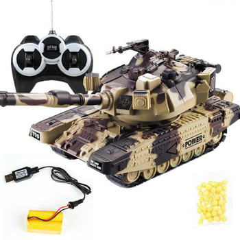 1:32 RC War Tank Tactical Vehicle Main Battle Military Remote Control Tank with Shoot Bullets Model Electronic Boy Toys цена 2017