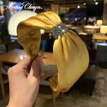 Boutique Hairband Diamond  Knotted Headband For Women Girls Hair Head Hoop Bands Accessories 2019 New Korean Scrunchy Headdress