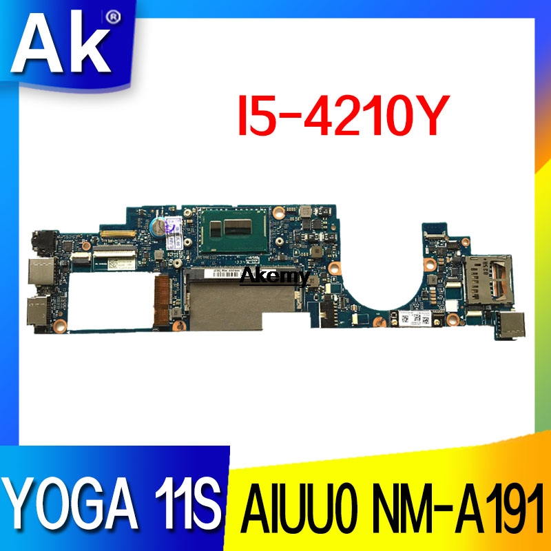 AIUU0 NM-A191 Laptop Motherboard For Lenovo YOGA 11S Test Original Mainboard FRU:90004932 I5-4210Y