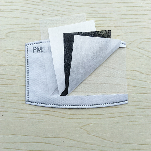 10Pcs Filter Protective Filter Media Flu-Proof Filter Mask 5 Layers PM2.5 Activated Carbon Filter Insert Protective Filter Anti 2
