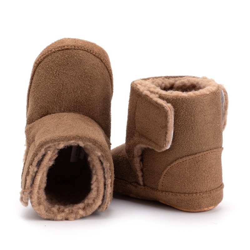 Winter Snow Boots Baby Girl Boy PU Leather Boots Casual Shoes Walkers Newborn Cute Non-slip Soft Sole Shoes Y13