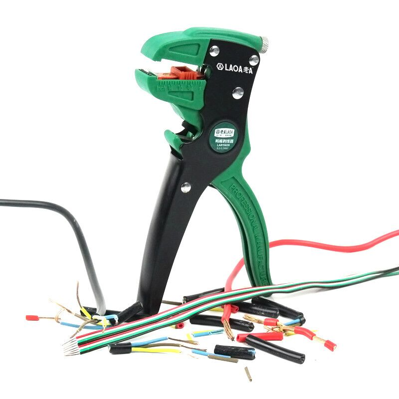 Tools : LAOA Automatic Wire Stripper Universal Duckbill Electric Wires Stripping Pliers Cable Crimper Strippers Tools Made In Taiwan