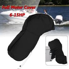 600D черная лодка полный мотор крышка подвесного двигателя защитная сумка подходит для 6 до 15 л.с. Мотор Водонепроницаемый