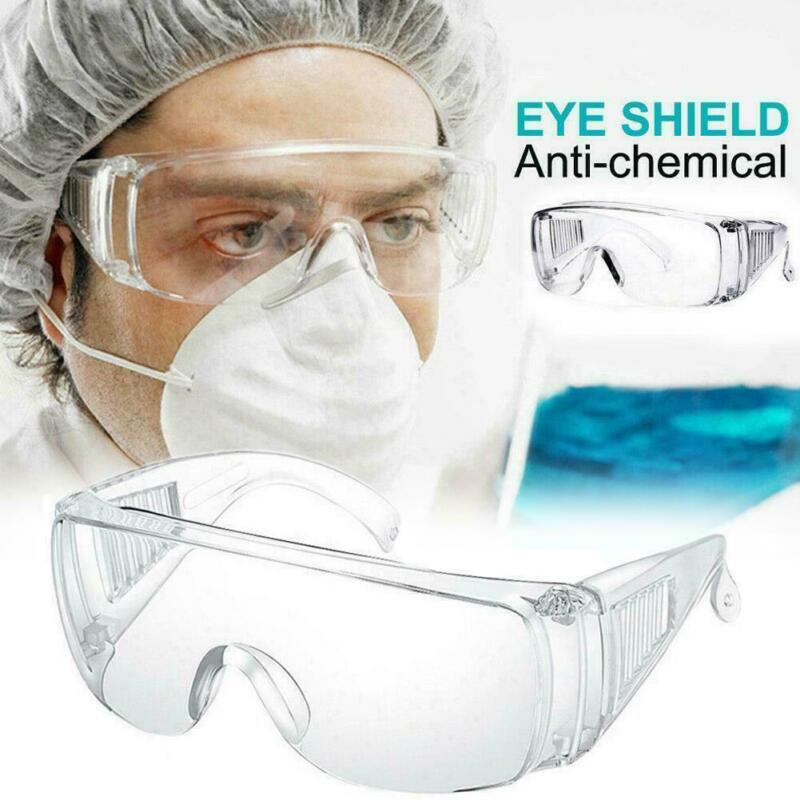 1Pcs Half Wrap Transparent Goggles Anti Virus Safety Goggles Glasses Eye Protection Work Lab Anti Dust Clear Lens Anti Splash