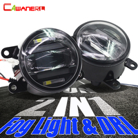 Cawanerl For Ford Focus Fiesta Fusion Mustang C Max Ranger Explorer Falcon 2 X Car Styling LED Fog Light Daytime Running Lamp