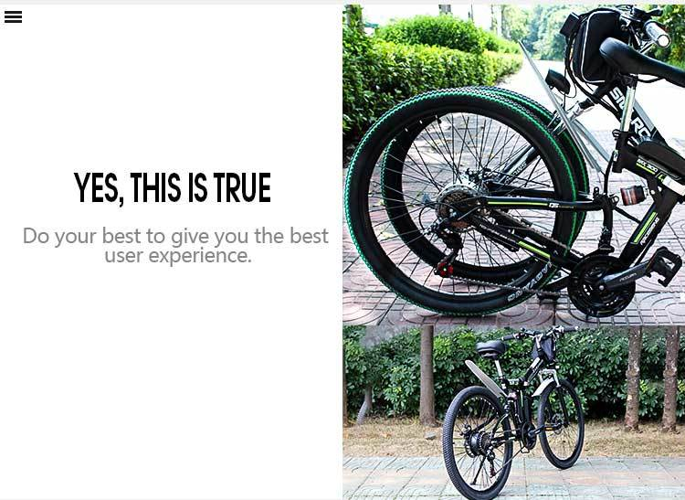 26 Inch 750W/1000W High Power Folding Mountain CityE bike with 10Ah/13Ah Lithium Battery Electric Bicycle Carbon Steel 12