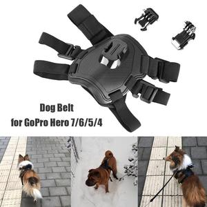 Image 4 - Caméra daction chien harnais montage réglable pour GoPro Hero 7 6 5 4 Xiaoyi sport Cam poitrine sangle support