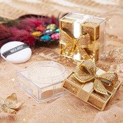 Порошок с золотым бантом, прозрачный матовый макияж, сатиновая текстура, контроль жирности, увлажняющий Водонепроницаемый Яркий порошок дл...