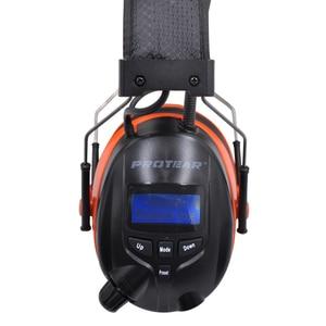 Image 3 - Protear DAB+/DAB Radio Hearing Protector 25dB 1200mAh Lithium Battery Earmuffs Electronic Bluetooth Headphone Ear Protection