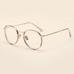 Image 4 - BCLEAR Alloy TR90 Glasses Frame Men Ultralight Women Vintage Round Prescription Eyeglasses Retro Optical Frame Eyewear 2019 New