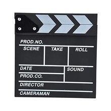 Director Video TV Movie Film Board Wooden 20 x 20 cm Professional Fashion Portable