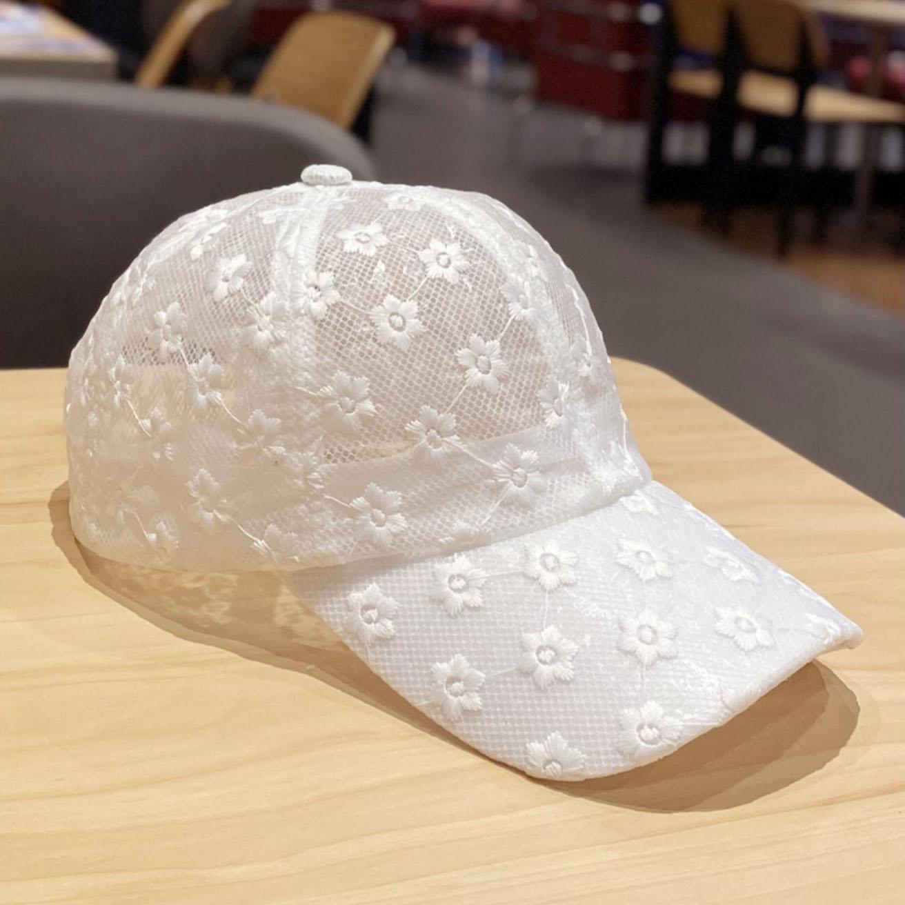 New female summer lace flower baseball cap fashion versatile sunshade breathable cap
