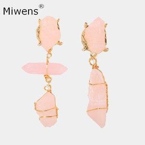 Женские Висячие серьги Miwens, висячие серьги макси с полудрагоценными камнями, эффектные ювелирные изделия
