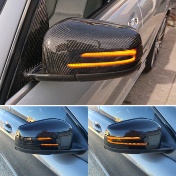 for mercedes a b c e s cla cls glk class w204 w176 w212 w117 w218 dry full carbon fiber rear side view mirror cover w204 caps Dynamic Led Turn Signal Rearview Mirror Indicator Blinker Light For Mercedes Benz W204 W176 W212 CLA A B C E S GLA GLK CLS Class