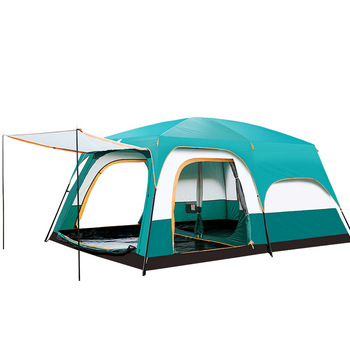Freedom Boat Camel tent Outdoor multiplayer camping full automatic double decker camping tent 5+ people ultralight tent desert camel three use automatic tent aluminum alloy rods outdoor camping tent rain proof anti uv shelter tent