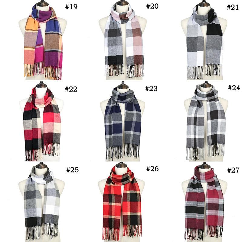 Women scarf autumn and winter imitation cashmere striped lattice wild warm shawl tassel shawl ?????? ?????? ??????? ????
