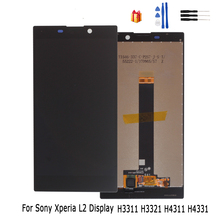 Original LCD Display For Sony Xperia L2 Touch Screen Digitizer Assembly For Sony Xperia L2 LCD Display Replacement Free Tools 100% test for sony ericsson xperia arc s lt15i lt18i lcd display and touch screen digitizer assembly with tools 1pc lot