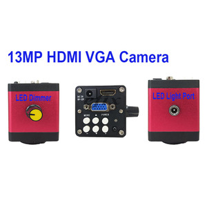 Image 5 - 13MP HDMI VGA /22MP HD USB TF монокулярный микроскоп цифровая камера Объектив 56 светодиодная большая стойка для верстака ремонт телефона пайка