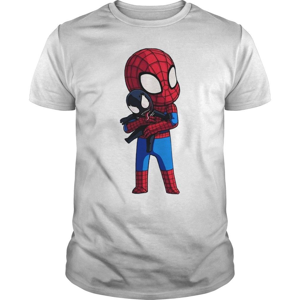 Baby Deadpool <font><b>Hugs</b></font> Venom <font><b>TShirt</b></font> White CottonMen Cartoon t shirt men Unisex New Fashion <font><b>tshirt</b></font> free shipping funny tops image