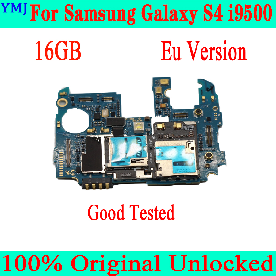 For Original <font><b>Samsung</b></font> <font><b>Galaxy</b></font> <font><b>S4</b></font> i9500 Logic <font><b>Board</b></font> Motherboard Unlocked Mainboard Good Working Plate image