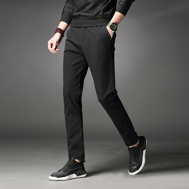 2020 Summer Male Pants Trousers Mens Joggers Casual Solid Slim Plus Size Pants