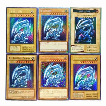 Yu Gi Oh niebieskie oczy biały smok DIY kolorowe zabawki Hobby Hobby kolekcje kolekcja gier Anime karty tanie i dobre opinie TOLOLO C930 Dorośli Chiny certyfikat (3C) Fantasy i sci-fi