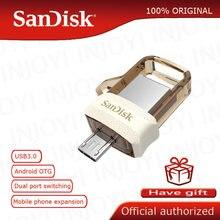Sandisk – clé USB 150 sdd3, support à mémoire de 32GB 64GB, lecteur Flash double OTG, 3.0 M/S