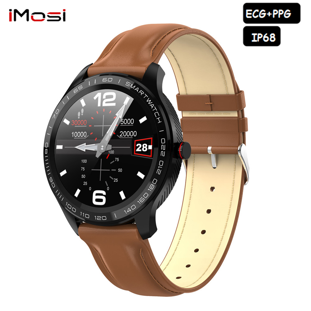 2019 L9 Smart Watch Men Women ECG + PPG Heart Rate Blood Pressure oxygen Monitor IP68 Waterproof Bluetooth <font><b>Smartwatch</b></font> VS <font><b>l7</b></font> L8 image