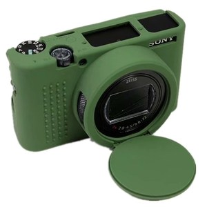 Image 1 - Camera Silicone Case For Sony RX100 VII Camera Bag for Sony Cyber Shot RX100 VII RX100 M7 Premium Com Frame Skin Case Protector