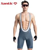 Santic Men Cycling Padded Bib Shorts Pro Fit Summer Italian 4D Pad Road MTB Bicycle Riding Bib Shorts Asian Size S 3XL M8C05098