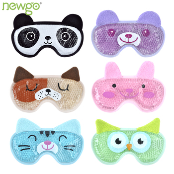 Cooling Eye Mask Reusable Beads Hot Cold Eye Mask for Therapy Soothing Visual Fatigue Remove Dark Circles Gel Eye Mask