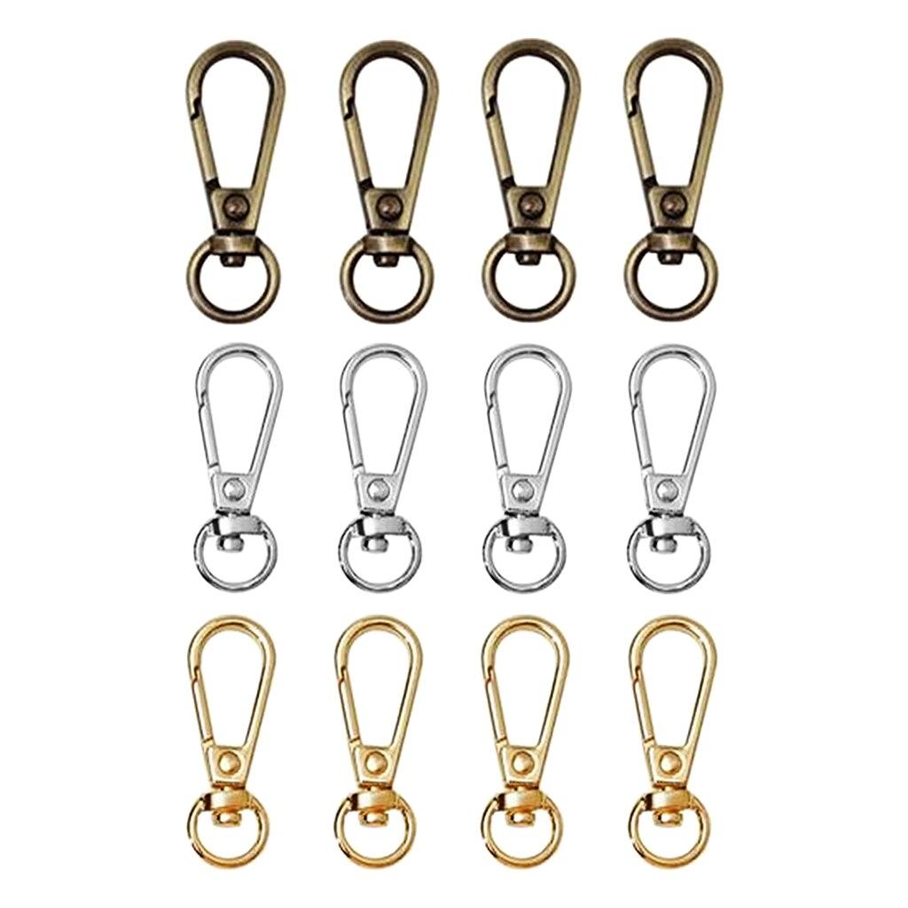 4Pcs Stainless Steel Keychain Bulk Swivel Snap Hook O Rings And Slide Buckles For Handbag Purse Hardware Craft
