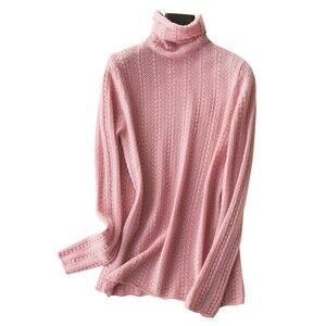 Image 5 - 100% Cashmere เสื้อกันหนาวถักผู้หญิงคุณภาพสูงคอเต่า 4 สีสุภาพสตรี Pullovers ฤดูหนาวใหม่แฟชั่นเสื้อผ้า