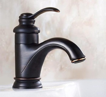 Black Oil Rubbed Brass Single Hole Deck Mounted Single Handle Lever Bathroom Vessel Basin Sink Faucet Mixer Water Taps mnf065 black oil rubbed bronze single lever handle bathroom vessel sink faucet mixer taps ahg023