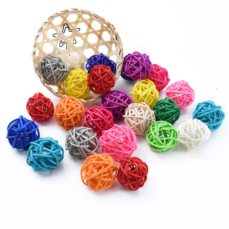 10pcs Cheap Artificial Straw Ball Stars Love Wedding Home Christmas Decoration Rattan DIY Kids Toys Curtain Hanging Accessories