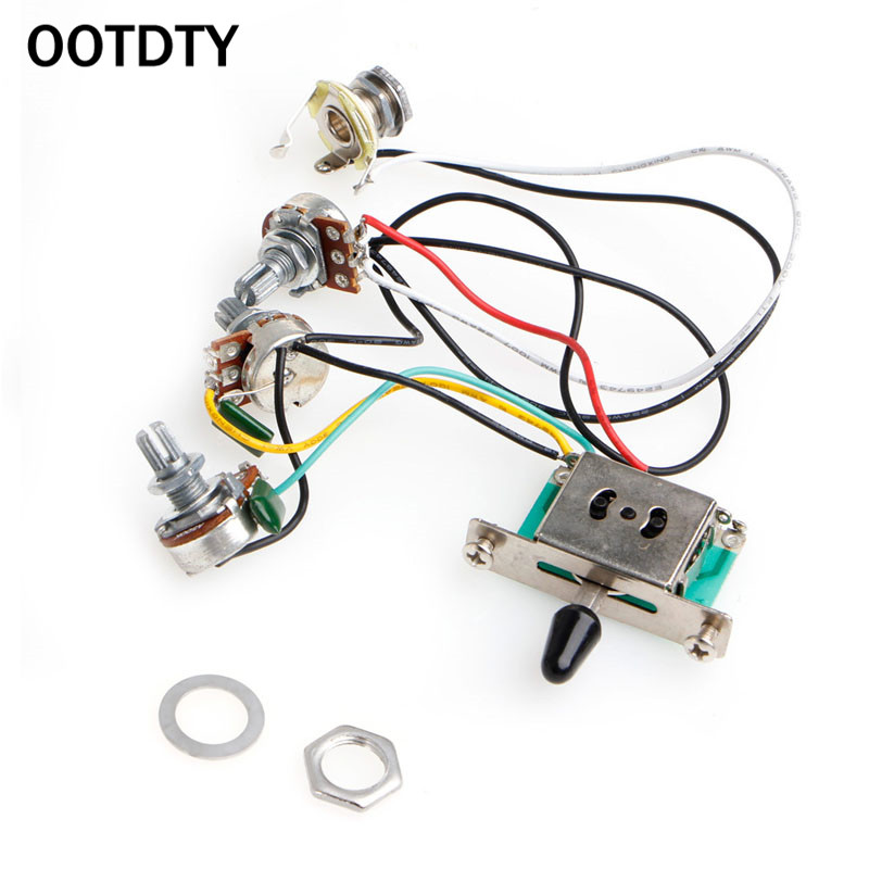 OOTDTY 5 Way Switch 250k Pots Knobs Wiring Harness Pickup for Strat Guitar| Guitar Parts & Accessories| - AliExpress | Guitar Wiring Actual |  | AliExpress
