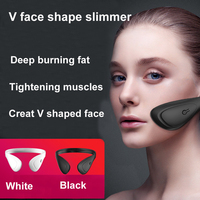 EMS Face Lifting Machine V Face Slimming Exerciser Massage Facial Muscle Stimulator with Gel Pads Face Lifting Tool